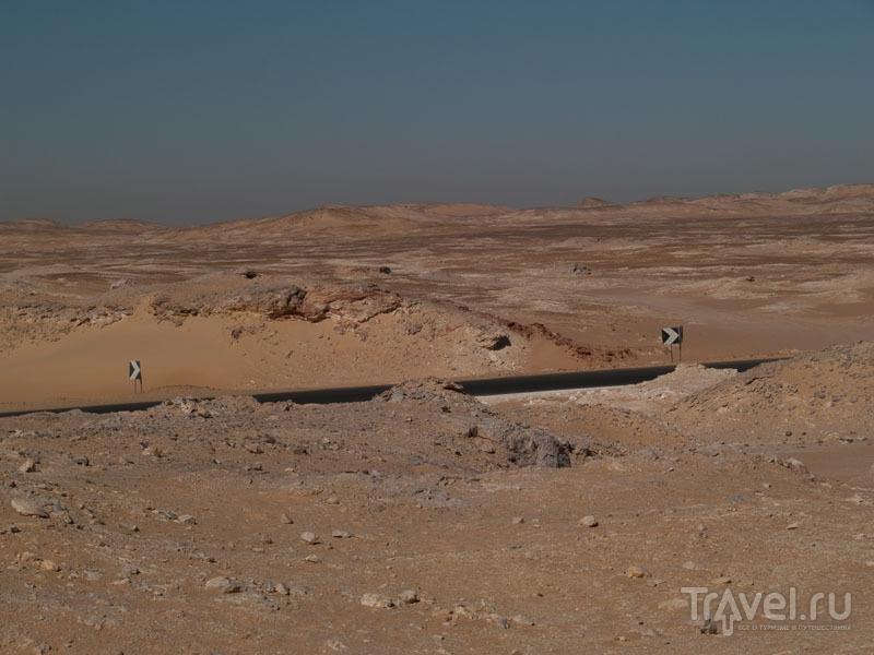 Дорога в Белую пустыню / Фото из Египта
