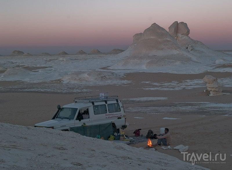 Закат в Белой пустыне / Фото из Египта