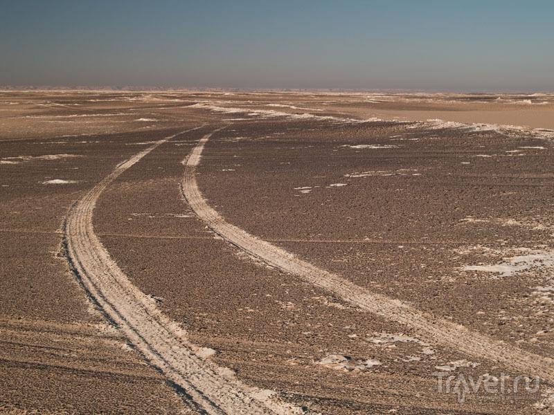 Дорога в Белой пустыне / Фото из Египта