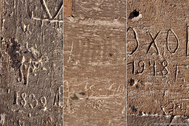 Автографы на стенах церкви Святой Шогакат, Вагаршапат / Фото из Армении