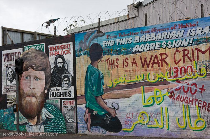 Портреты узников на стене в Белфасте / Фото из Ирландии