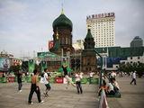 Стритбол на площади / Китай