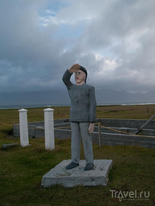 Фигура человека - творение Самюэля Йонссона  / Фото из Исландии