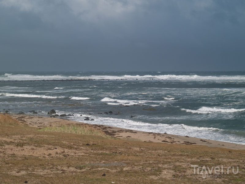 Шторм у берегов Арна-фьорда / Фото из Исландии