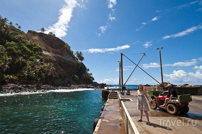 Причал на острове Питкэрн / Фото с Питкэрна