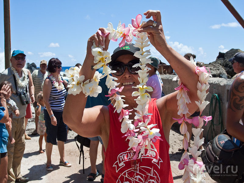 Встреча туристов на острове Питкэрн / Фото с Питкэрна
