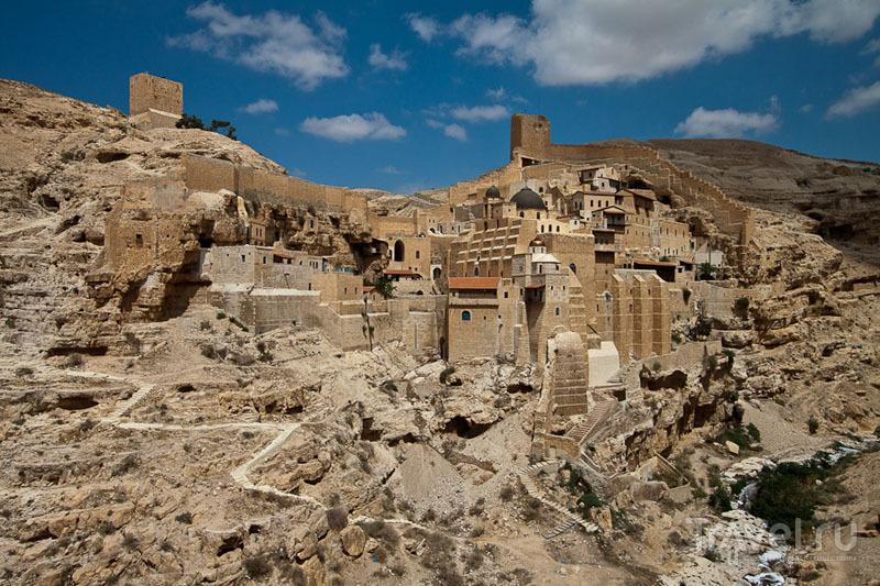 Вид на монастырь Мар-Саба в Палестине / Фото из Палестины