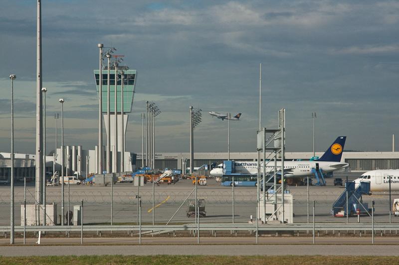 аэропорт Мюнхена из окна самолета / Испания