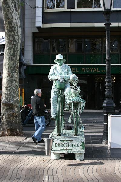 """""""живые скульптуры"""" / Испания"""