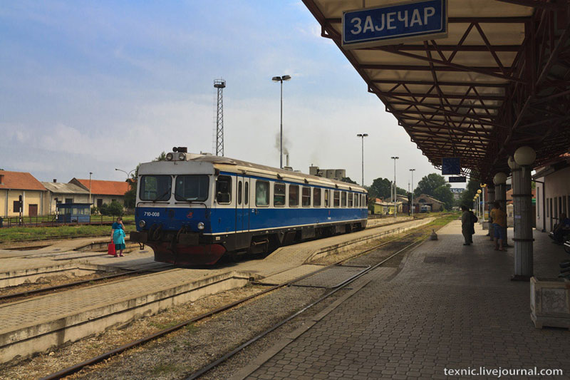 Самодвижущиеся вагоны в Заечаре, Сербия / Фото из Сербии