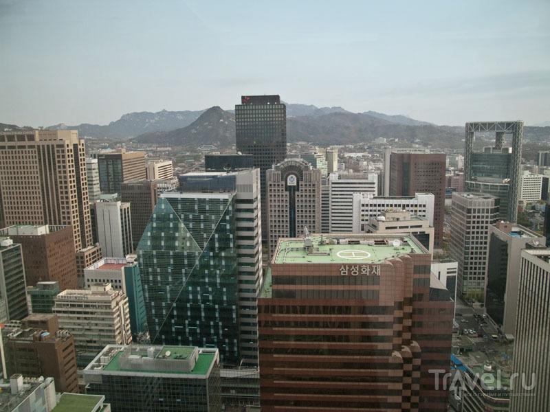 Вид на небоскребы в деловом центре Сеула / Фото из Южной Кореи