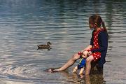 на озере / Словения