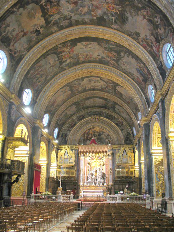 Собор Святого Иоанна в Валетте, внутреннее убранство / Фото с Мальты
