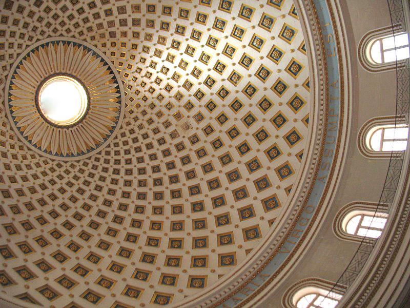 Купол ротонды Успения Богородицы / Фото с Мальты