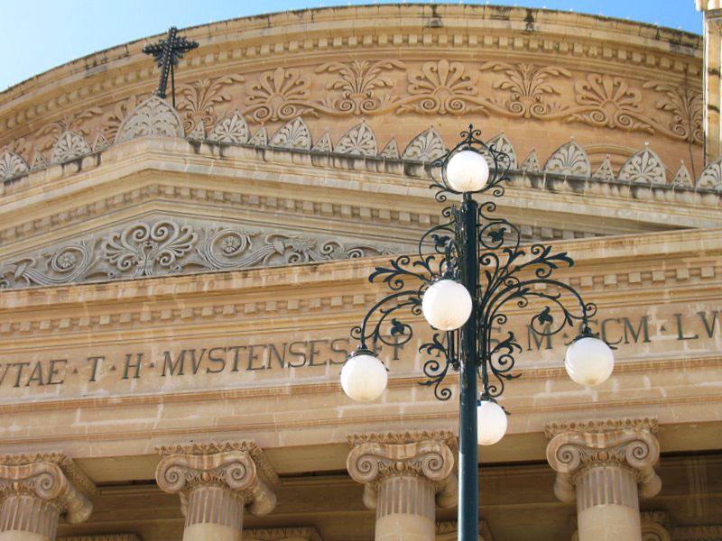 Фасад ротонды и часть барабана купола / Фото с Мальты