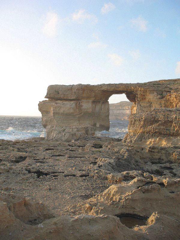 """Скала """"Лазурное окно"""" на острове Гоцо / Фото с Мальты"""