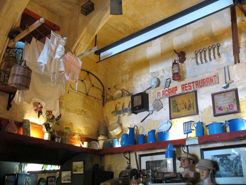 Уголок ресторана в Валетте / Фото с Мальты