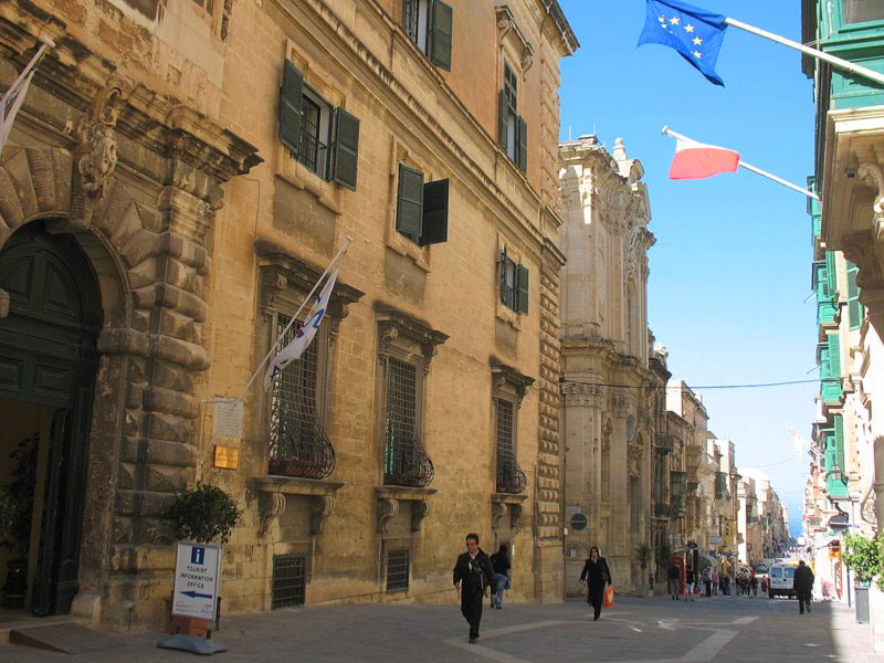 Начало главной улицы Валетты – Республики / Фото с Мальты