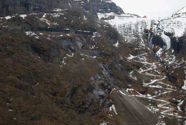 Заснеженные горы Норвегии / Фото из Норвегии