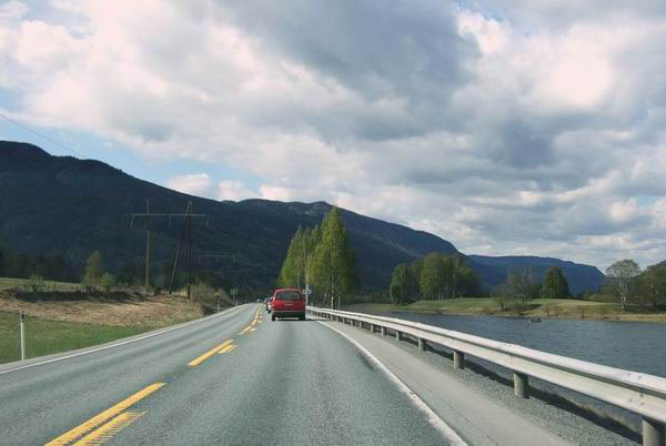 Дорога в Норвегии / Фото из Норвегии