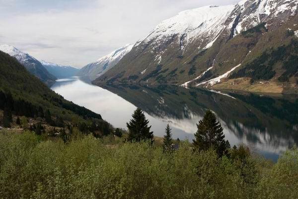 Норвежский фьорд / Фото из Норвегии