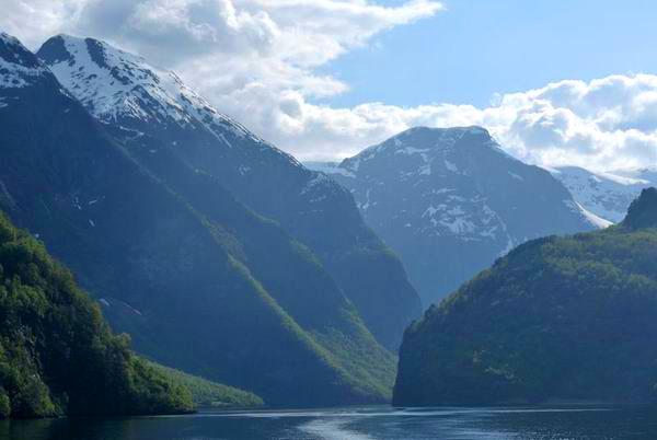 Вид с парома в Кёупангере / Фото из Норвегии