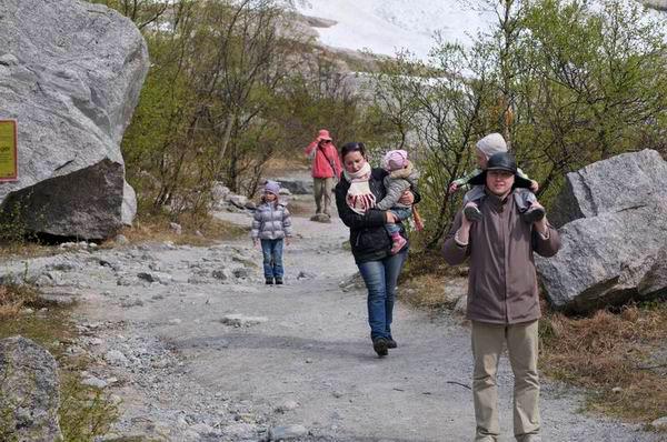 Туристы на ледникев Норвегии / Фото из Норвегии