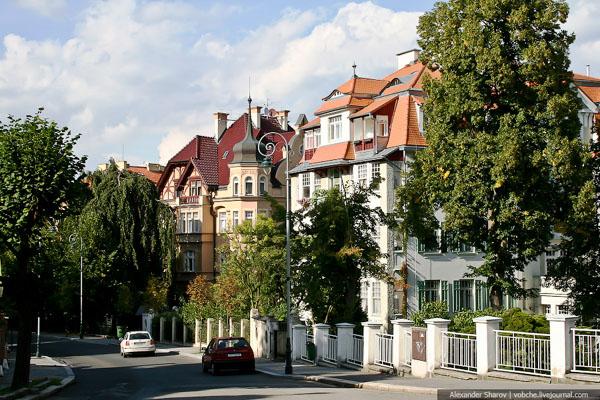 Жилые дома в Карловых Варах / Фото из Чехии