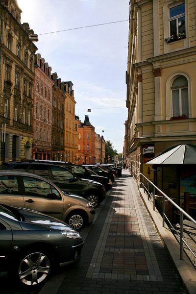 На улице в Карловых Варах / Фото из Чехии