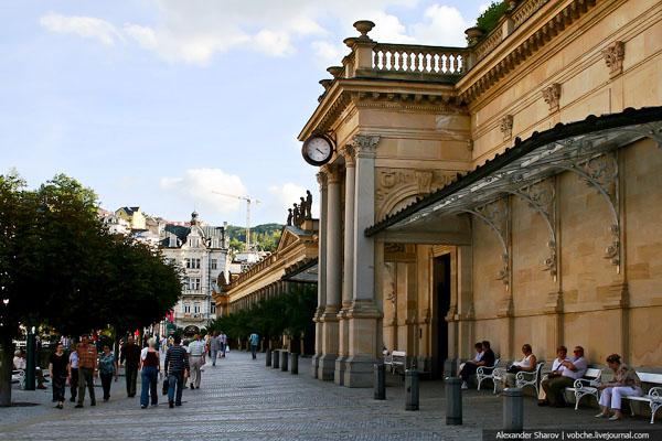 Мельничная колоннада в Карловых Варах / Фото из Чехии