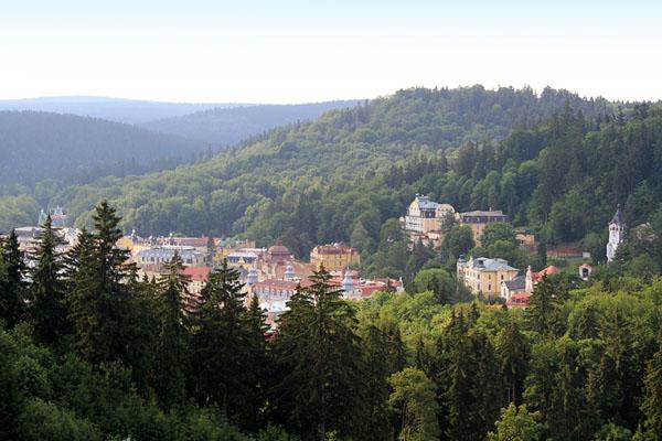 Вид на Марианске-Лазне с горы / Фото из Чехии