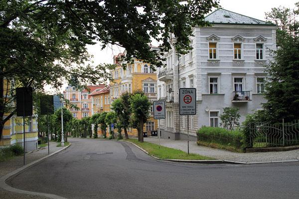 Улица в городе Марианске-Лазне / Фото из Чехии