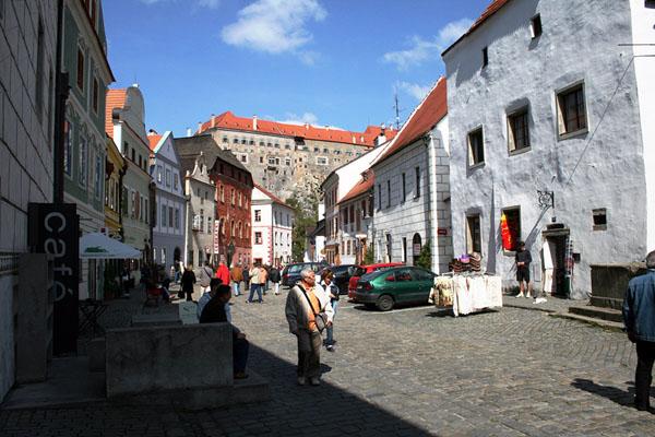 На подходе к замку в городе Чески-Крумлов / Фото из Чехии