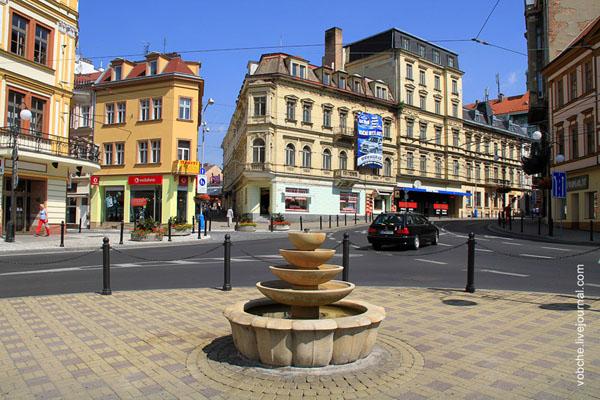 Площадь в городе Теплице / Фото из Чехии