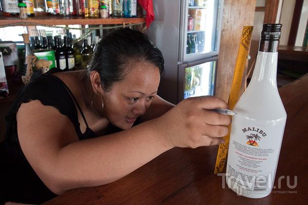 """Инвентаризация ликера """"Малибу"""" / Фото с Западного Самоа"""