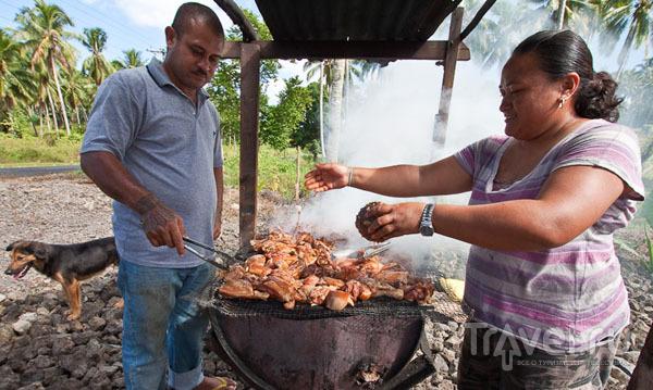 Готовка пищи на Самоа / Фото с Западного Самоа
