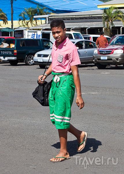 Школьник на Самоа / Фото с Западного Самоа