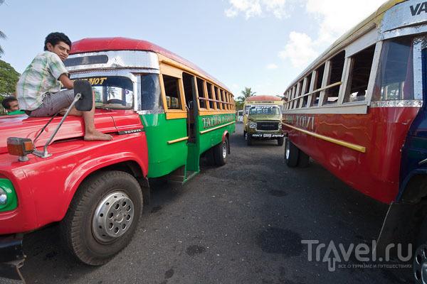 Автобусы на Самоа / Фото с Западного Самоа