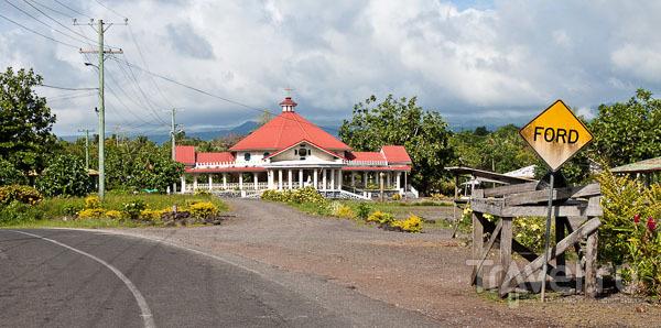 Церковное здание на Самоа / Фото с Западного Самоа