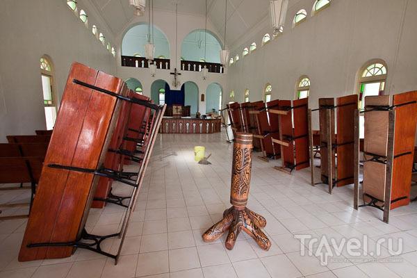В церкви на Самоа / Фото с Западного Самоа