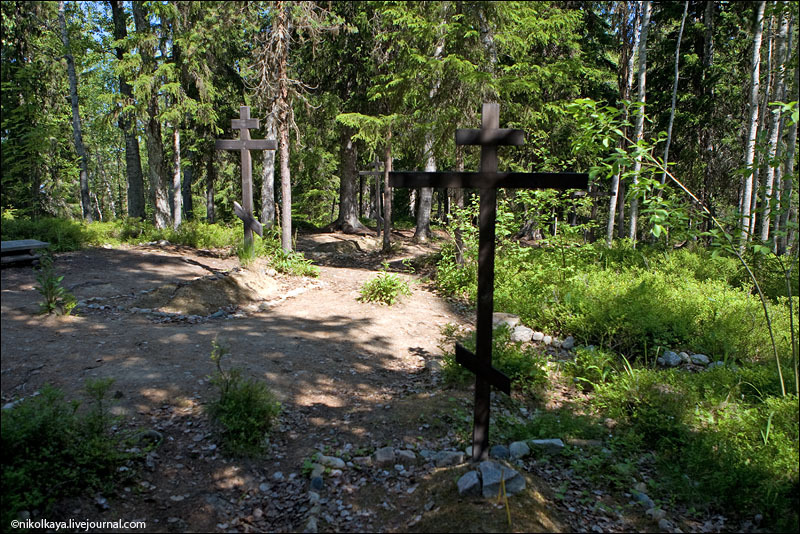 На кладбище узников СЛОН / Фото из России