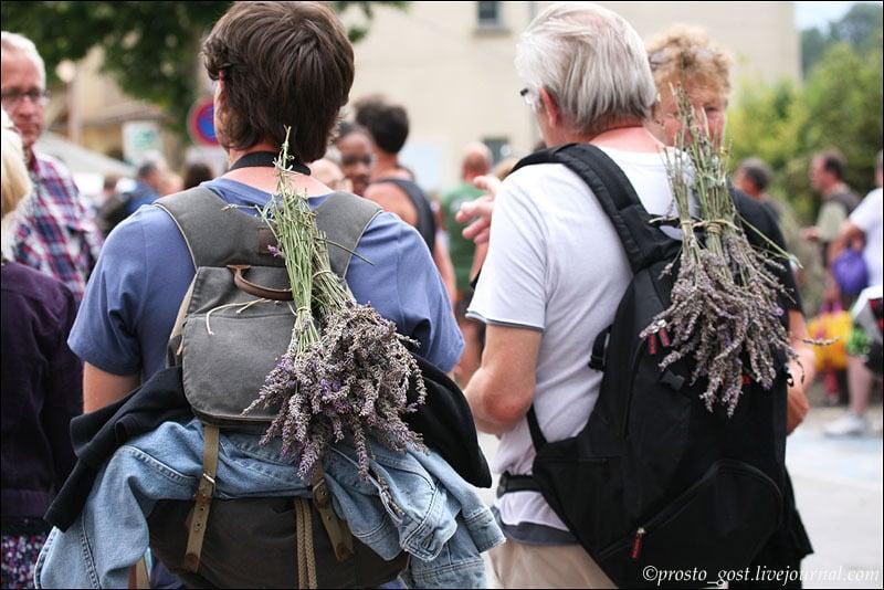 Участники фестиваля лаванды в Валансоле / Фото из Франции