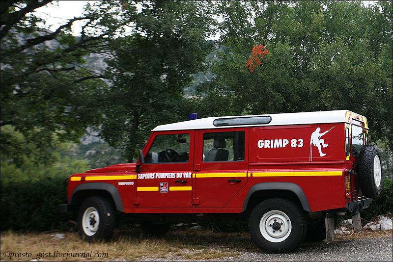 Машина службы спасения в Вердонском ущелье / Фото из Франции