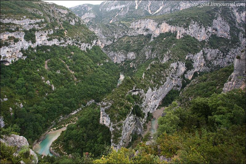 Река Вердон в ущелье / Фото из Франции