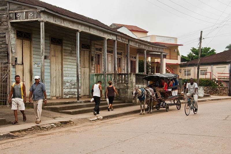 В городке Баракоа на Кубе / Фото с Кубы