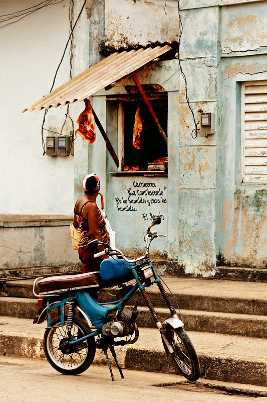 Мясная лавка на Кубе / Фото с Кубы
