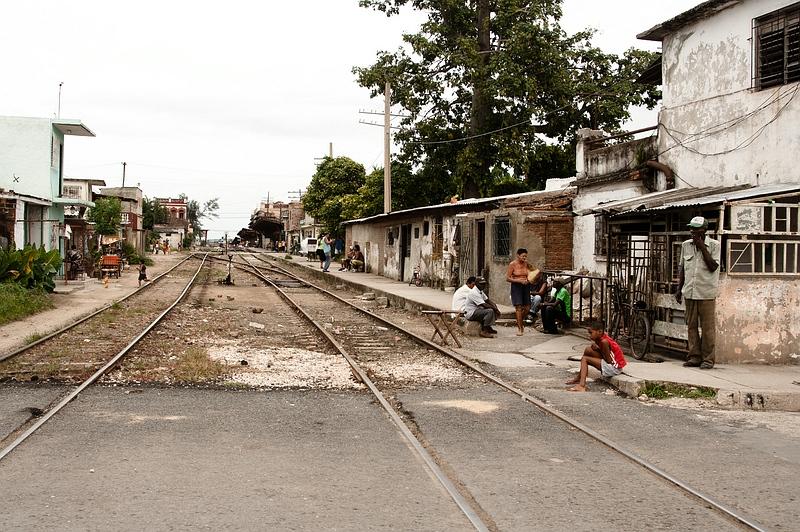 Железная дорога в Камагуэе / Фото с Кубы