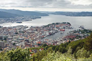 вид на весь город / Норвегия