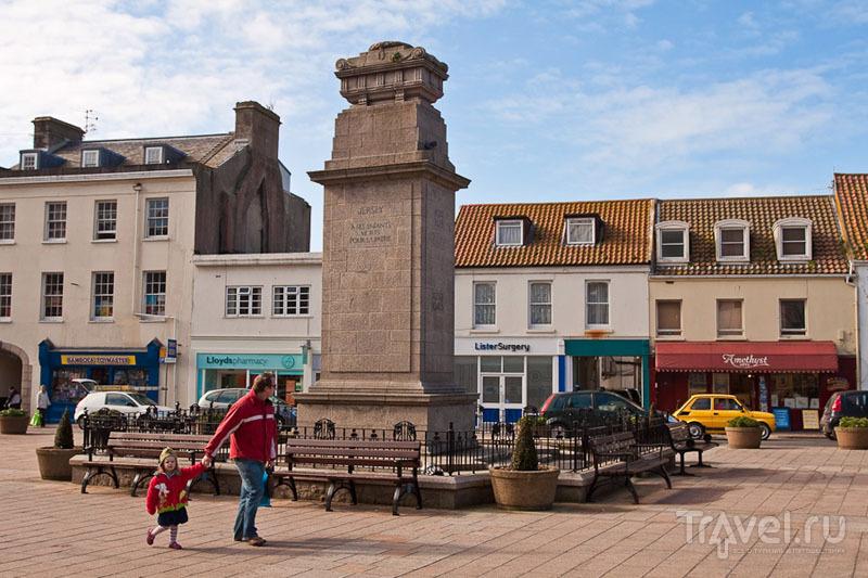 Площадь на острове Джерси / Фото из Великобритании
