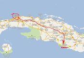 на карте / Куба